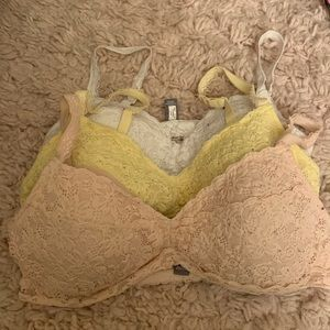 Aerie Lace Bralettes Set of 3